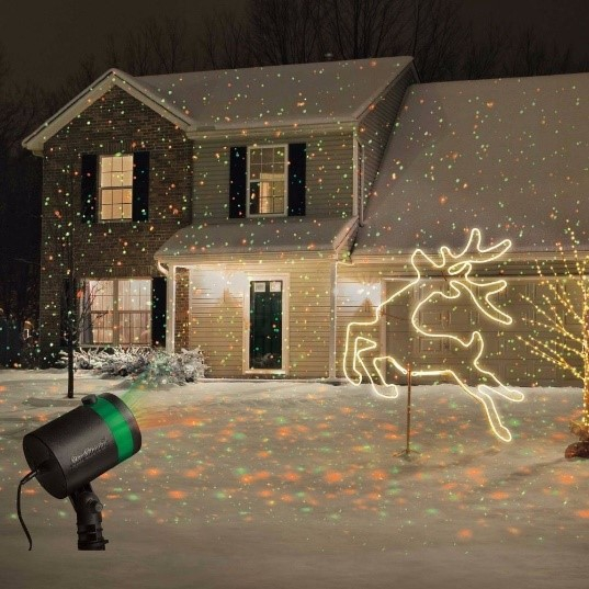 Christmas laser-lights - Use with responsibility